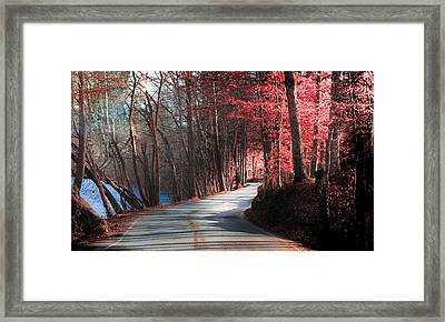 Take Me Home Country Roads Framed Print by Karen Wiles