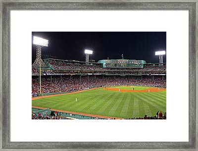 Take Me Out To The Ballgame Framed Print by Juergen Roth