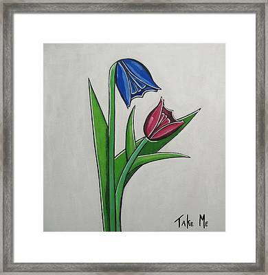 Take Me Framed Print by Sandra Marie Adams