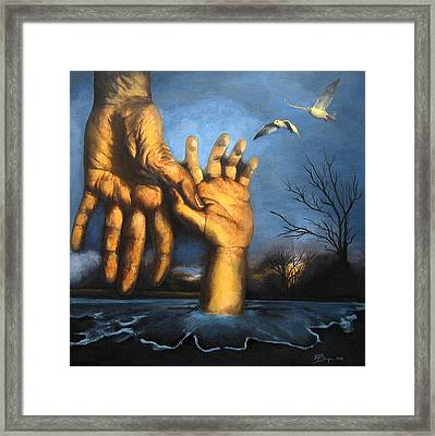 Take My Hand Framed Print by Andrea Banjac