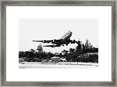 Take Off Framed Print by James Markey