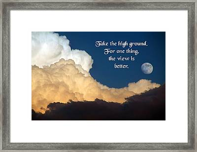 Take The High Ground Framed Print by Mike Flynn