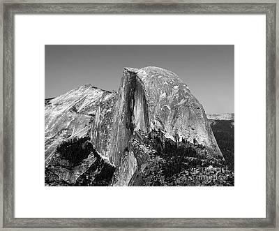 Taken For Granite Framed Print by Mel Steinhauer