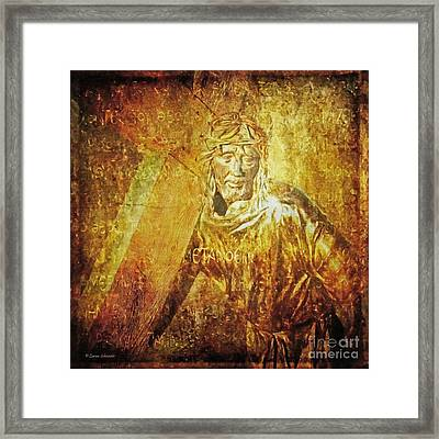 Takes Up The Cross  Via Dolorosa 2 Framed Print by Lianne Schneider