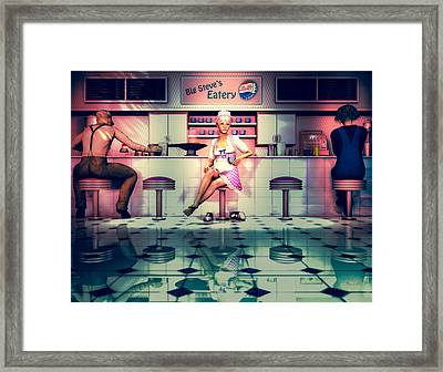 Taking A Break Framed Print by Bob Orsillo