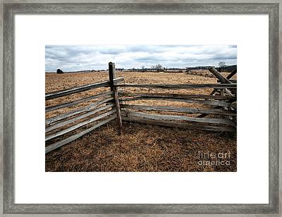 Taking Cover Framed Print by John Rizzuto