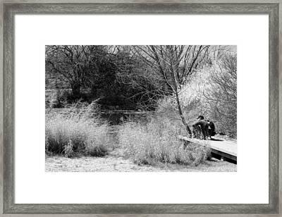 Taking It All In Bw Framed Print by Elizabeth Sullivan