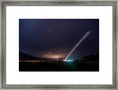 Taking Off From Mammoth Framed Print by Cat Connor