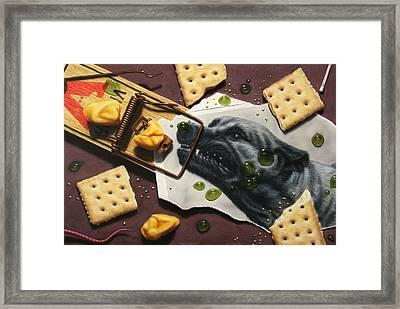 Taking The Bait Framed Print by James W Johnson