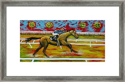 Taking The Lead Framed Print by Eve  Wheeler