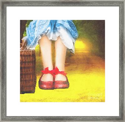 Taking Yellow Path Framed Print by Mo T