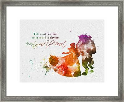 Tale As Old As Time Framed Print by Rebecca Jenkins
