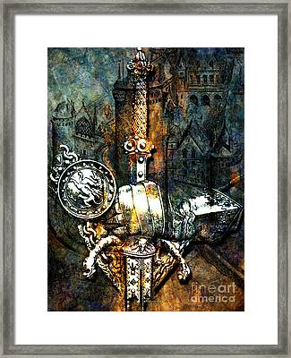 Tales Of Chivalry Framed Print by Tammera Malicki-Wong