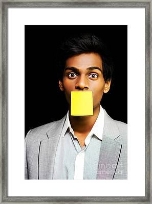 Talkative Forgetful Office Worker Framed Print by Jorgo Photography - Wall Art Gallery