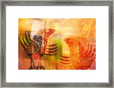 Talking Birds Framed Print by Lutz Baar