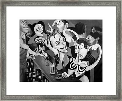 Talking Sweet Nothings At The Bar Framed Print by Anthony Falbo