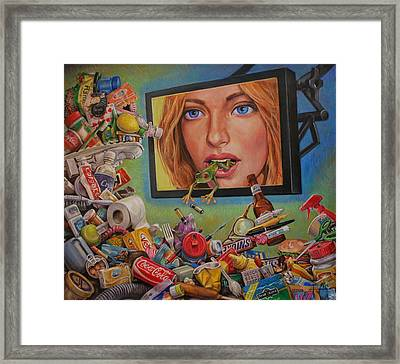 Talking Trash Framed Print by Henry David Potwin