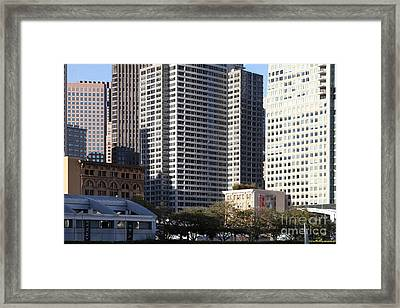 Tall Buildings Of San Francisco - 5d20505 Framed Print by Wingsdomain Art and Photography