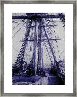 Tall Ship 2 Framed Print by Jack Zulli
