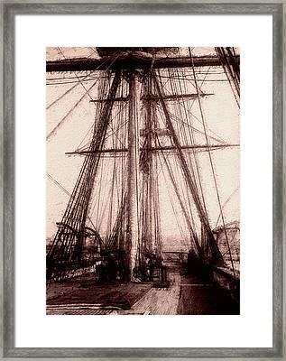 Tall Ship Framed Print by Jack Zulli
