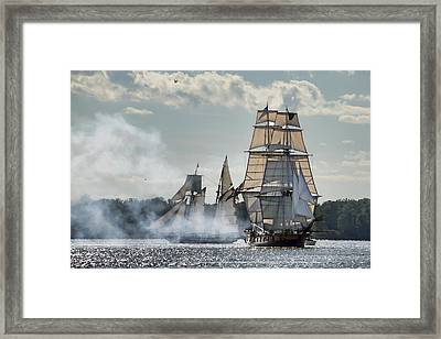 Tall Ships  Framed Print by Ann Bridges