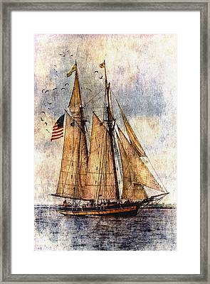 Tall Ships Art Framed Print by Dale Kincaid