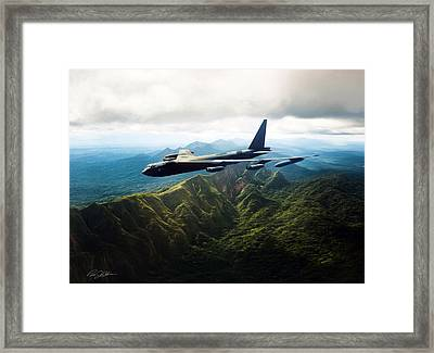 Tall Tail B-52 Framed Print by Peter Chilelli