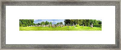 Tall Tombstones Panorama Framed Print by Thomas Woolworth