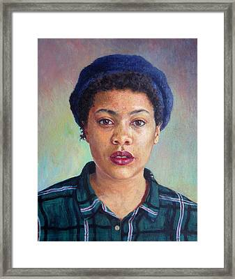Talla, 2014,oil On Canvas Framed Print by Tilly Willis