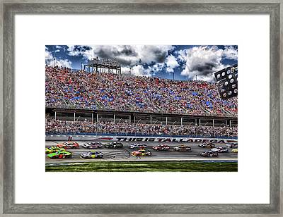 Talladega Superspeedway In Alabama Framed Print by Mountain Dreams
