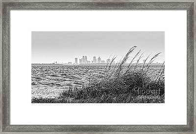 Tampa Across The Bay Framed Print by Marvin Spates