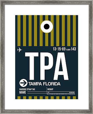 Tampa Airport Poster 1 Framed Print by Naxart Studio
