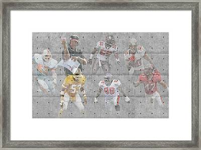 Tampa Bay Buccaneers Legends Framed Print by Joe Hamilton