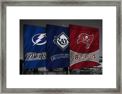 Tampa Bay Sports Teams Framed Print by Joe Hamilton