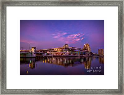 Tampa Convention Center At Dusk Framed Print by Marvin Spates