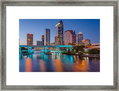 Tampa Skylines Framed Print by RB Art