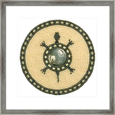 Tan Indian Turtle Framed Print by Douglas K Limon