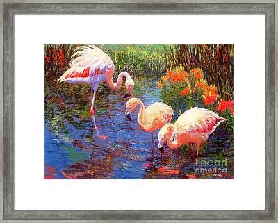 Tangerine Dream Framed Print by Jane Small