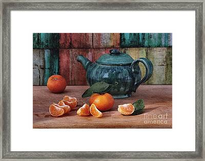 Tangerines Framed Print by Luv Photography