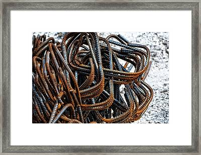 Tangled - Industrial Photography By Sharon Cummings Framed Print by Sharon Cummings