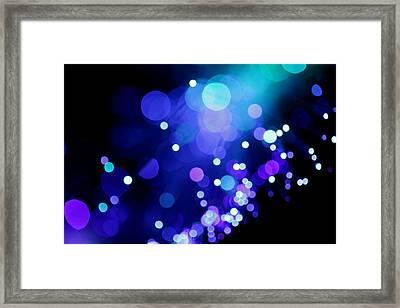 Tangled Up In Blue Framed Print by Dazzle Zazz