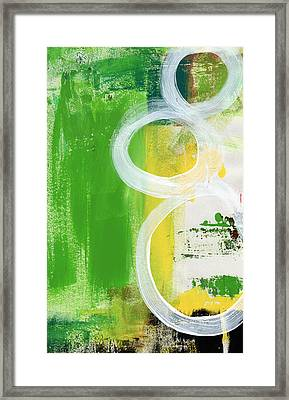 Tango- Abstract Painting Framed Print by Linda Woods
