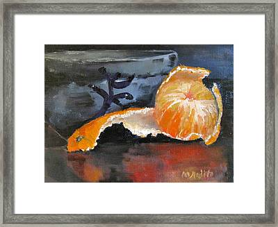 Tangy Tangerine Framed Print by MaryAnne Ardito