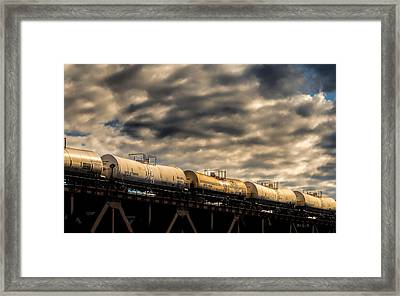 Tank Cars Framed Print by Bob Orsillo
