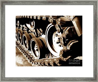 Tank Tracks Framed Print by Olivier Le Queinec