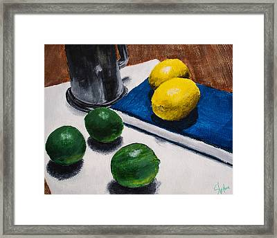 Tankard And Citrus 8x10 Framed Print by Stephen Nantz