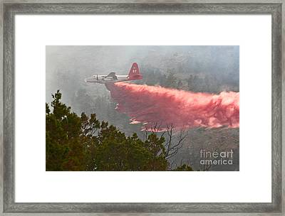 Framed Print featuring the photograph Tanker 07 On Whoopup Fire by Bill Gabbert
