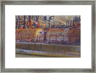 Tanker Fill Point Framed Print by Donald Maier