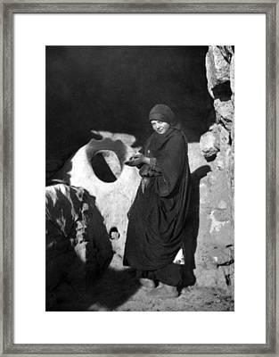 Tannur Girl Framed Print by Munir Alawi