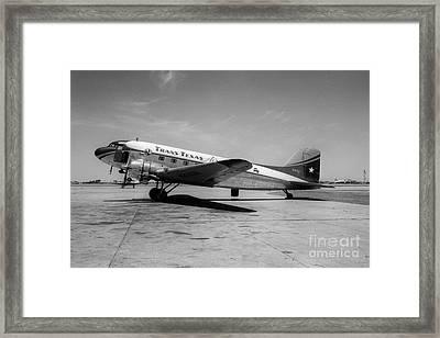 Tans-texas Air Douglas Dc-3 Framed Print by Wernher Krutein